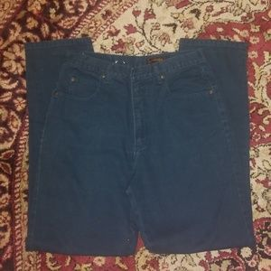 Vintage High Waisted Eddie Bauer Green Jean Size12
